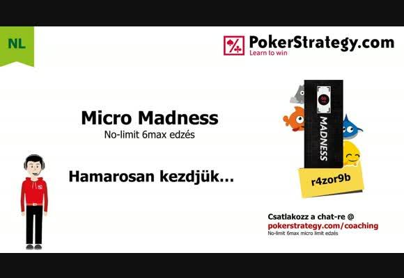 Micro madness - leakfinder NL10 6max asztalokon 02.04.