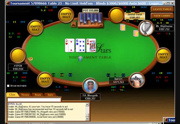 Multi Table Turnier $215 Rebuy