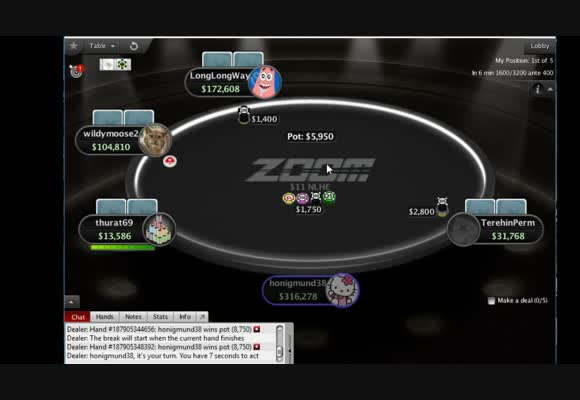 $11 6-Max Zoom MTT Final Table Live Play (2)