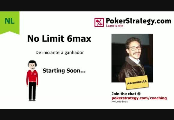 Curso No Limit para Iniciantes- Sessão ao vivo, aplicando a estratégia básica (3)