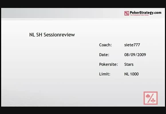 NL1000 Преглед на сесия на къси маси