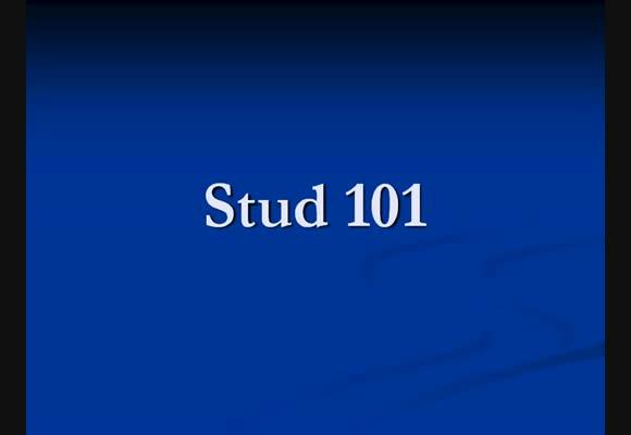 Дублаж на: Stud 101