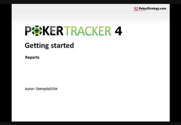 Pokertracker4 - Reports