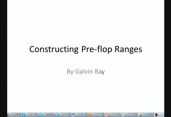 Videos: Constructing Preflop Ranges - Part 1