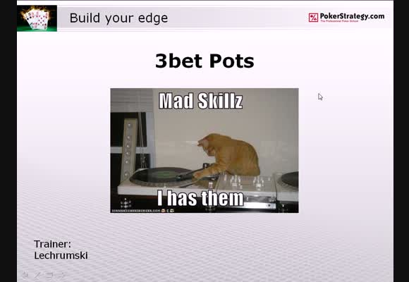 Build Your Edge: 3-Bet Pots