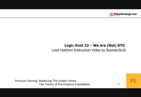 Logic Knot: We Are (Not) GTO