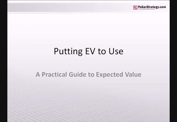 Putting EV to use - Part 1