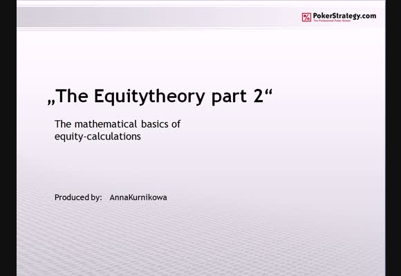 The Equity Theory - Part 2