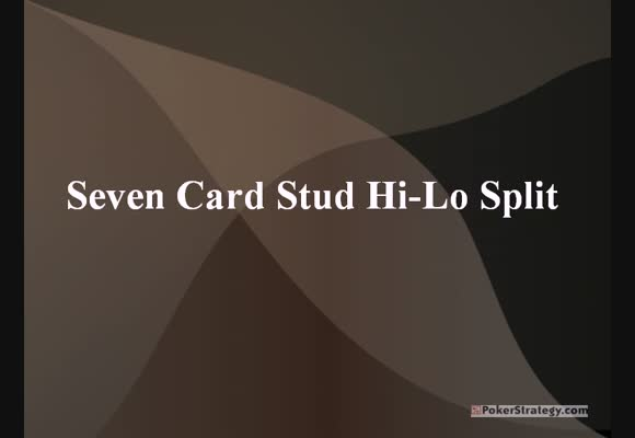 Seven Card Stud Hi/lo - An introduction for beginners