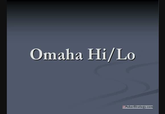 Omaha Hi/lo - An introduction for beginners