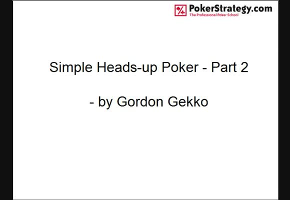 Simple Heads-up Poker - Part 2