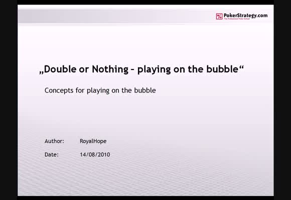 DoN analysis: Playing on the Bubble