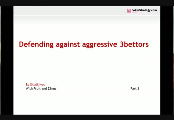 Defending against aggressive 3-bettors - Conclusions