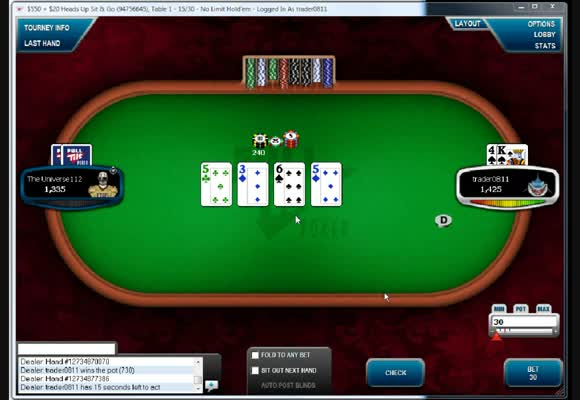SnG $535 Special Heads-Up Live Video