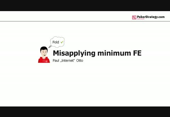 Misapplying minimum fold equity