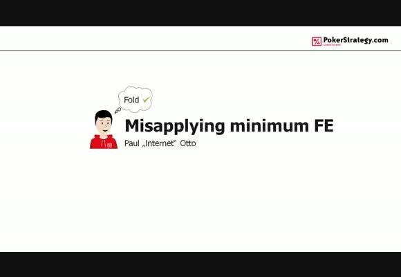 Misapplying minimum fold equity