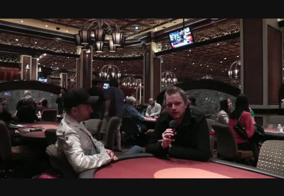 Interview with Daniel Negreanu at the room Five Diamond Poker Classic