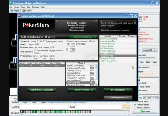 SNG $3+$0,40 - 10 Jugadores