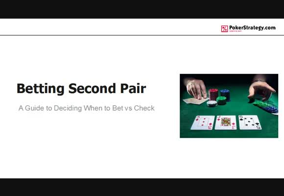 Betting vs Checking with Second Pair