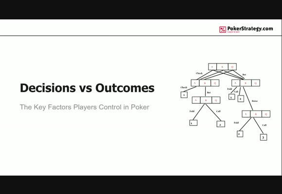 Decisions vs. Outcomes In Poker