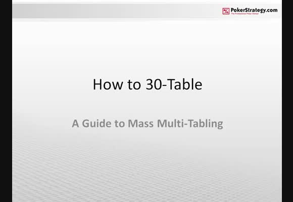 How To 30-Table: A Guide to Mass Multi-Tabling