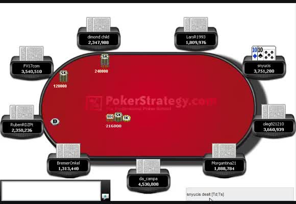 Collin reviews snyucis's Saturday Splash MTT win - Late stages and Final table