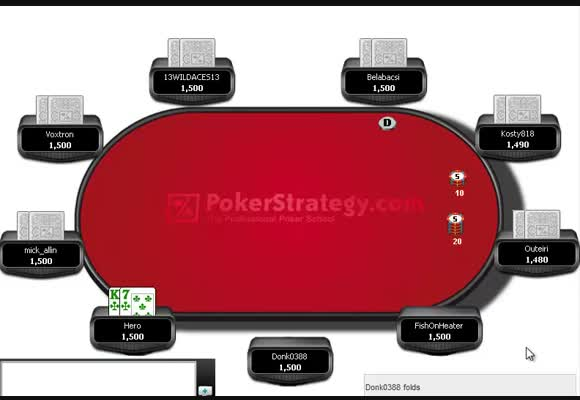 $35 180-Man SNG Review With Dual Hole Card Analysis