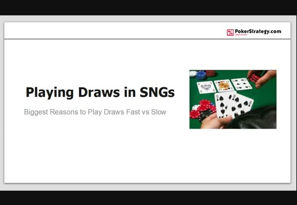 Playing Draws in SNGs