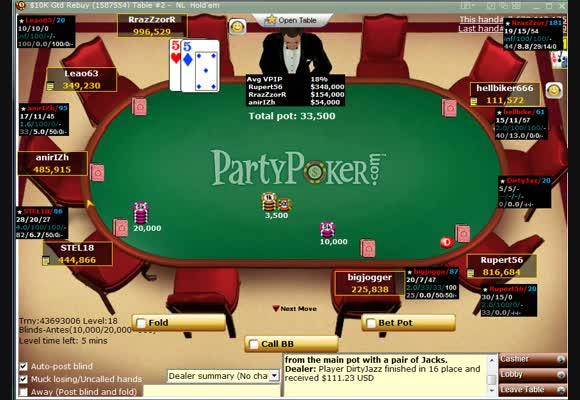 MTT $9 Rebuy Session Review Part II