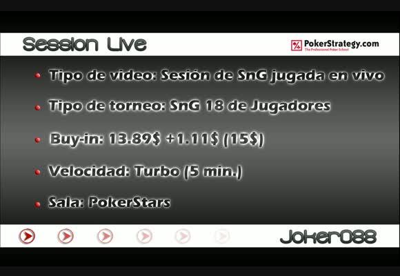 Session Live 18 Jugadores 15$ (1ª Parte)