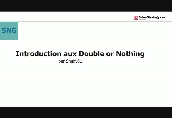 Introduction aux Double or Nothing