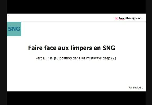 Faire face aux limpers en SNG: part III