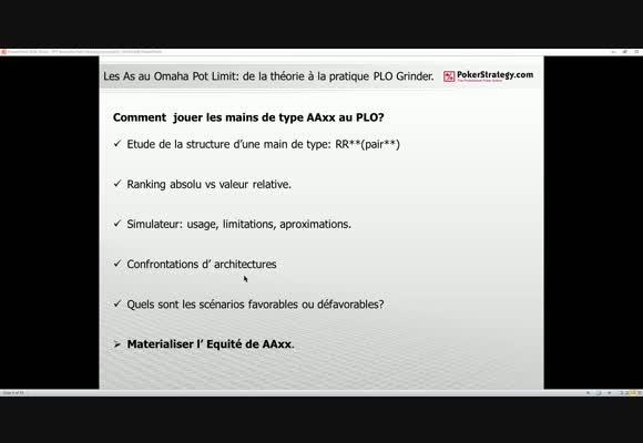 PLO: les As, de la théorie à la pratique.