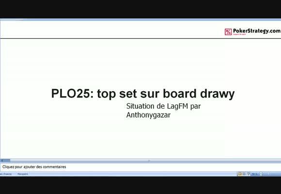 La main du jour : top set sur board drawy