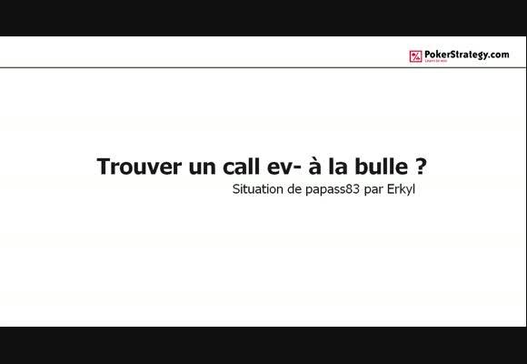 La main du jour : Trouver un call ev- à la bulle?