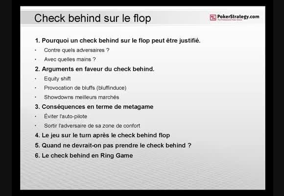 Check behind sur le flop 2/4