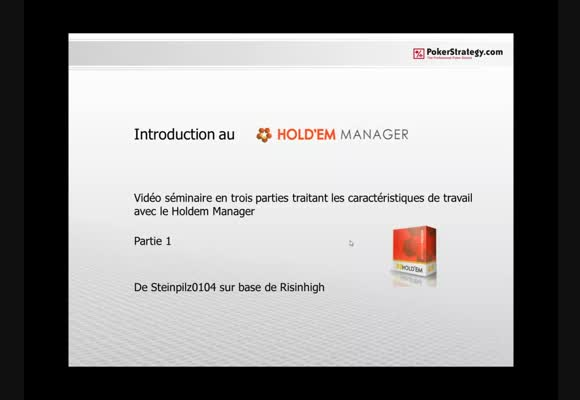 Introduction à Holdem Manager - installation