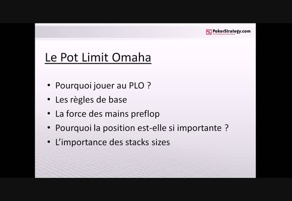 Initiation au Pot Limit Omaha - partie 1