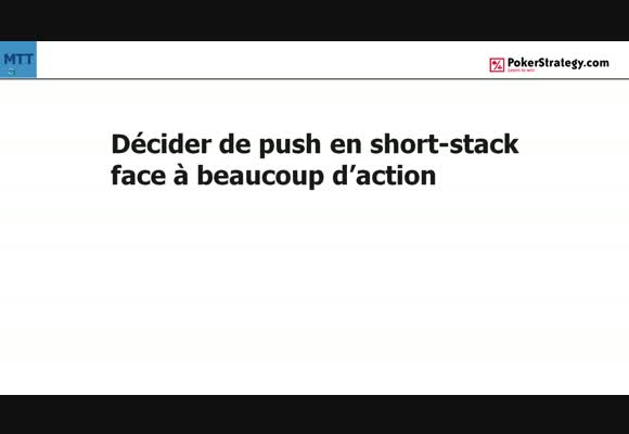 La main du jour : push face à beaucoup d'action