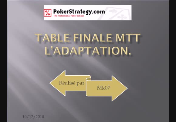 MTT Table finale 5k€ garanti