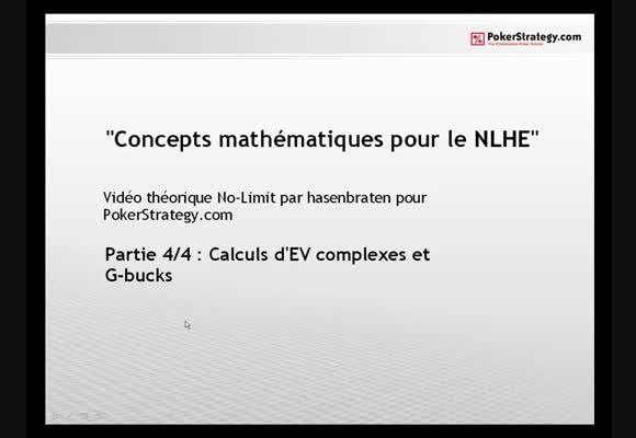 Concepts mathématiques du NL Hold'em 4