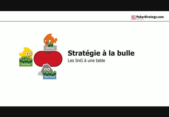 Stratégie à la bulle: les SNG à une table