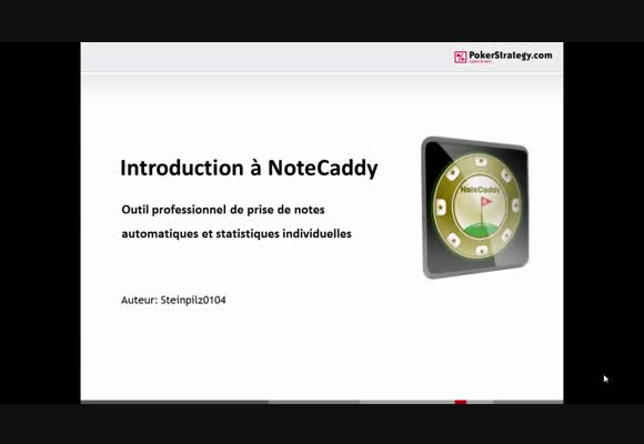 Introduction à NoteCaddy