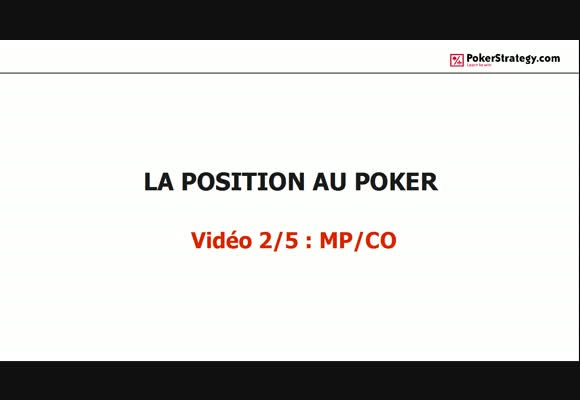 La position au poker: MP & CO