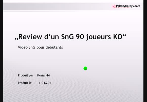SnG 90 joueurs Knock Out