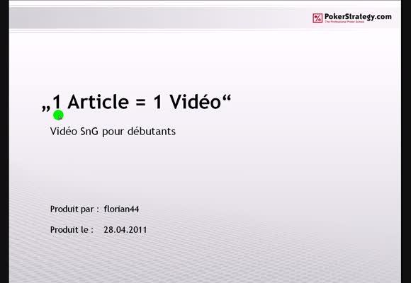 1 article stratégique = 1 vidéo