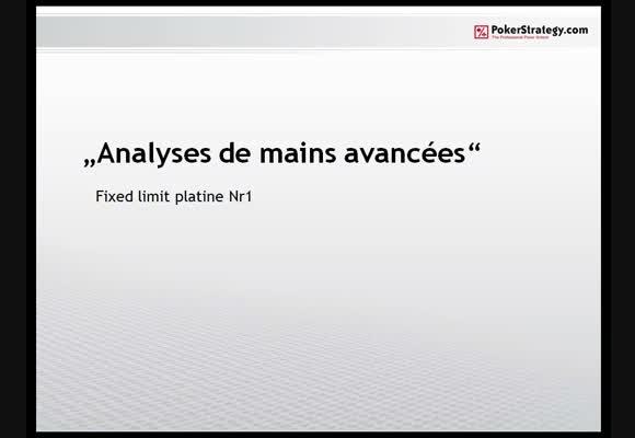 Analyses avancées : FL 1