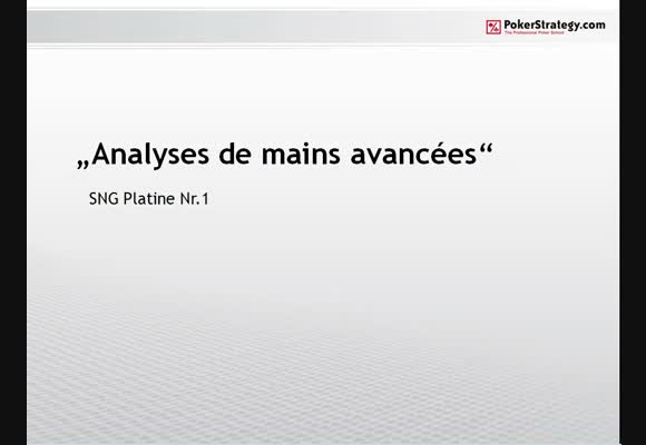 Analyses avancées : SNG 1