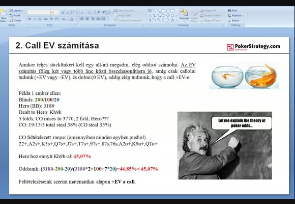 EV számítás MTT-ken gyakorlatban - 1. rész