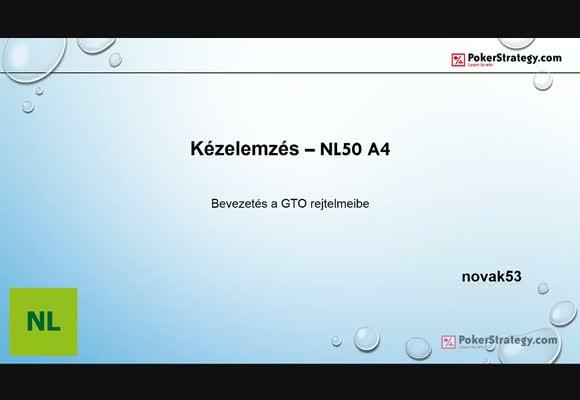Kézelemzés NL50 A4s - Bevezetés a GTO rejtelmeibe